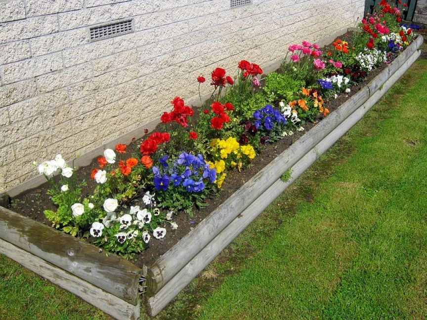 Wonderful Flower Bed Designs For Front Of House