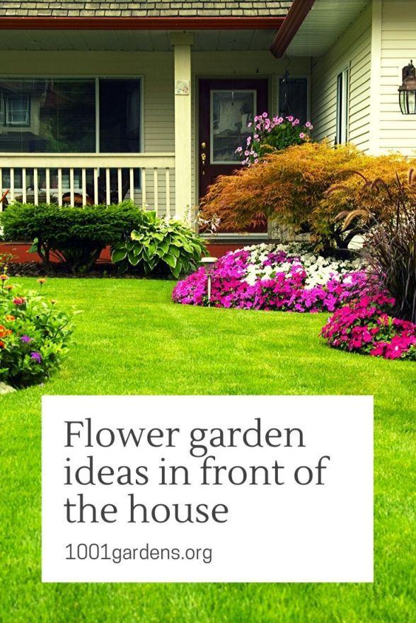 Wonderful flower garden ideas in front of house