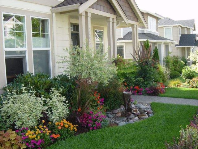 Adorable simple landscape ideas for front of house
