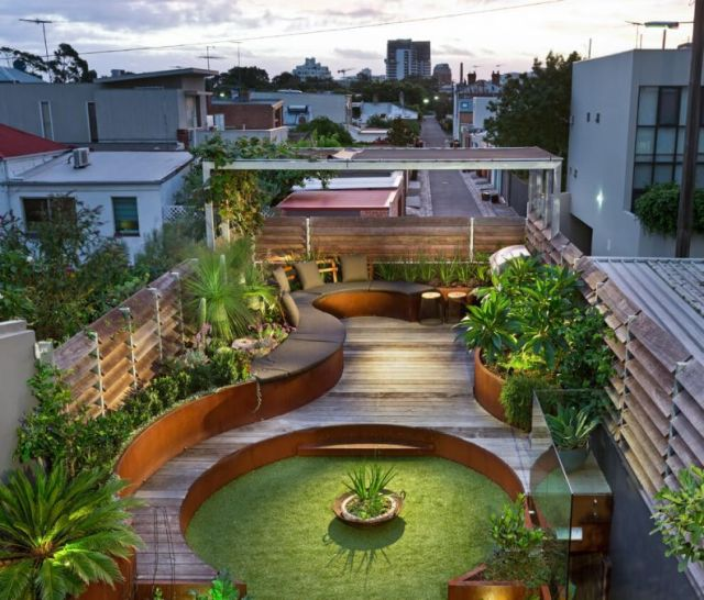 Nice simple terrace garden ideas