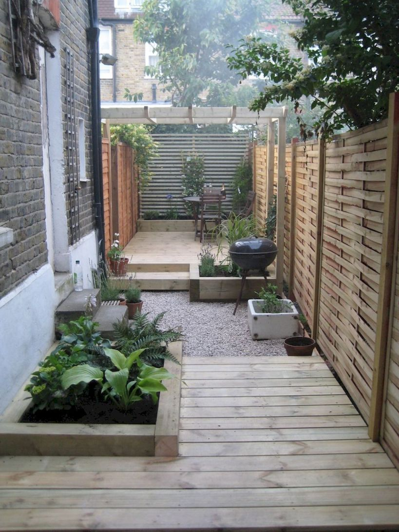 Gorgeous  narrow backyard ideas
