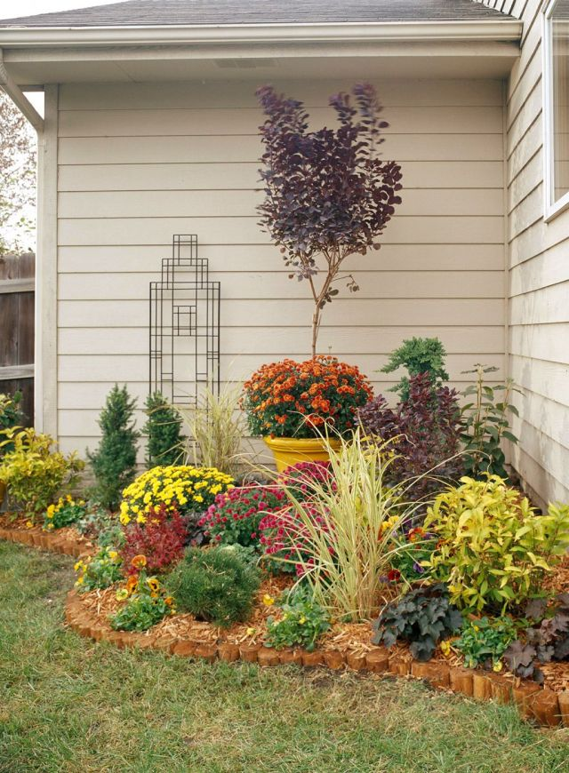 Gorgeous small flower bed ideas for front of house