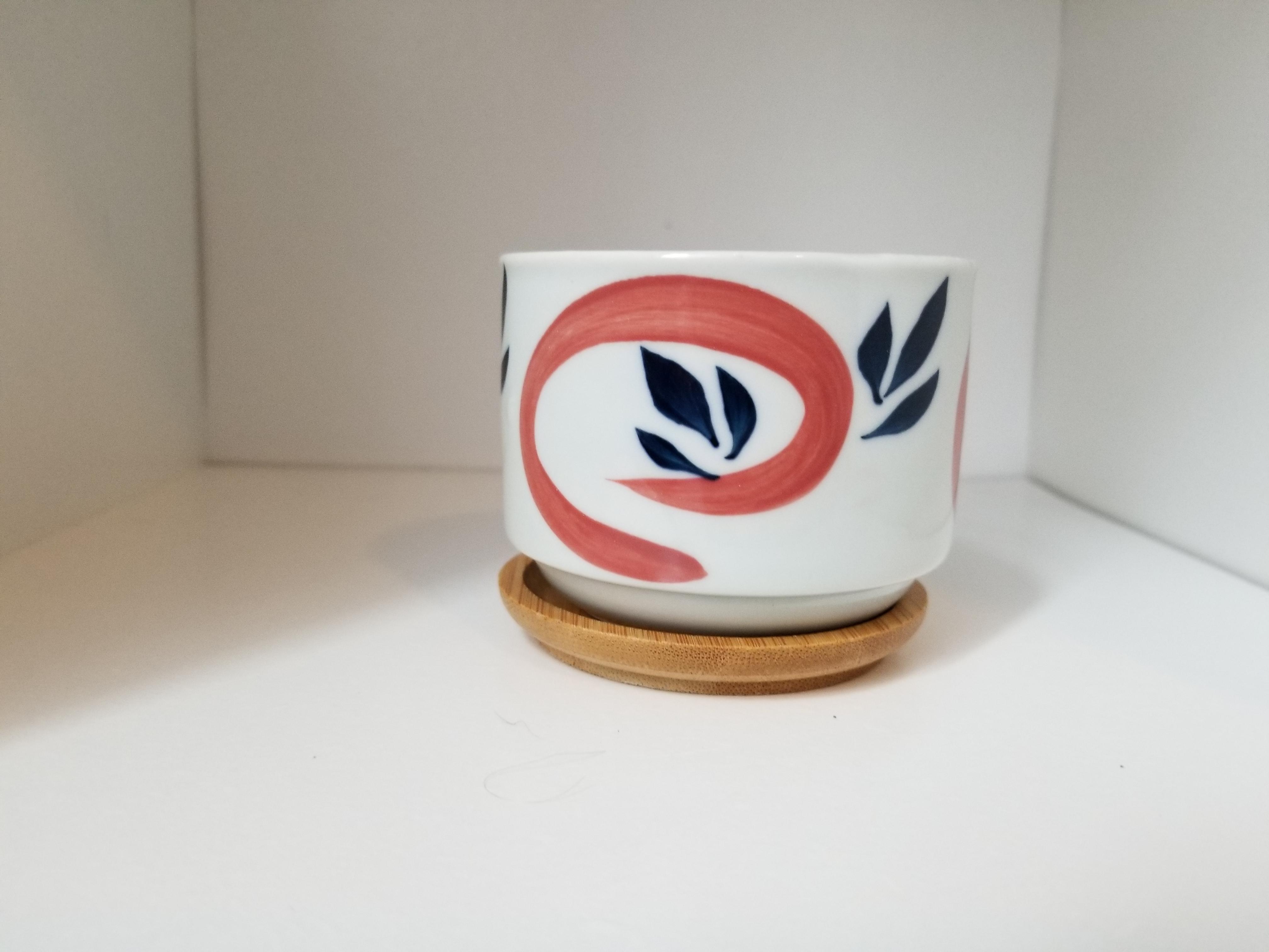 Hand-painted Japanese Decorative Pot
