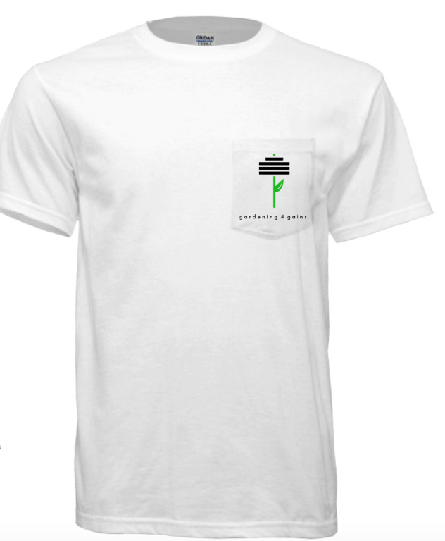 Gardening for Gains Pocket T-shirt