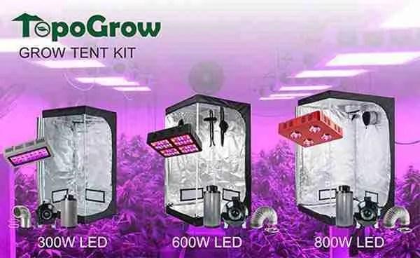 TopoGrow LED Grow Tent Kit