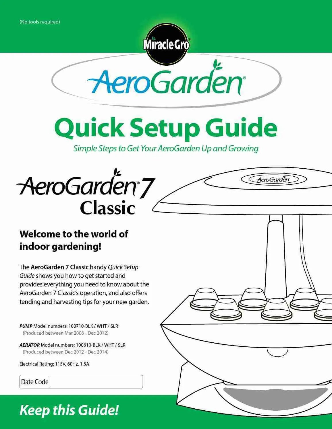 aerogarden user guide