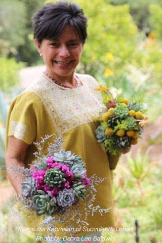 Succulent floral designer Marialuisa Kaprielian started with an Etsy store.