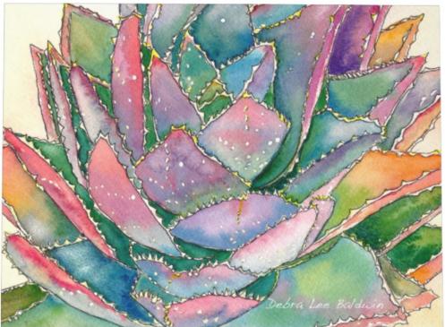 Aloe brevifolia watercolor