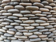 Stones on a planter