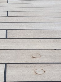 The deck on the ship