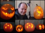 One year Mike carved an emoticon