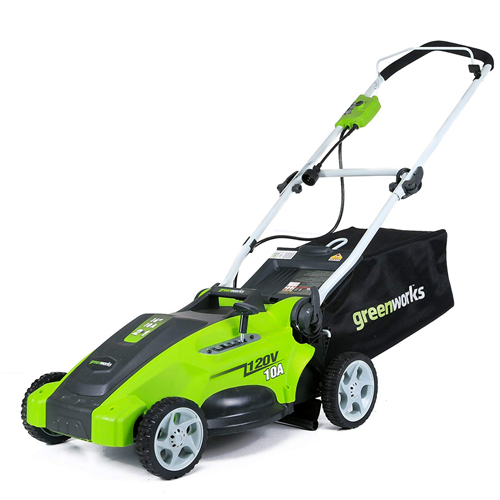 Greenworks 25142 10 Amp 16 inch Corded Electric Lawn Mower
