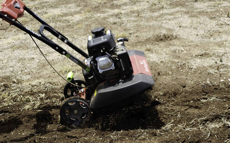 versa tiller cultivator in action