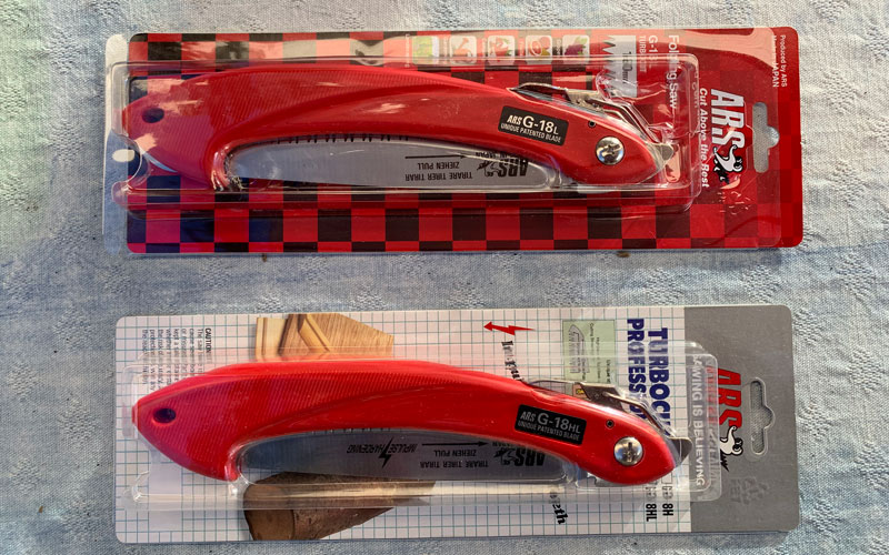 ARS Folding Hand Saw packaging