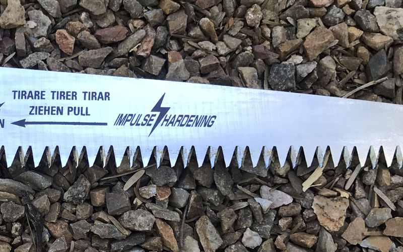 ARS Folding hand saw impulse hardening