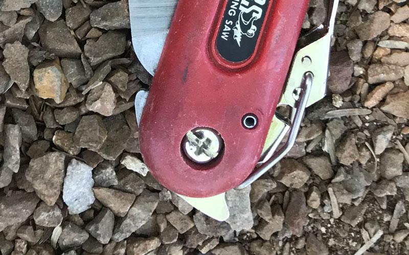 ARS Pocket Saw adjustment screw