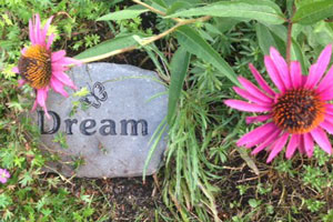 Engraved Garden Stone from Adirondack Stone Works