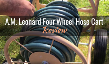 A.M. Leonard Four Wheel Hose Cart with Flat Free Tires (Model # FHW300): Product Review