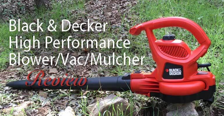 Black Decker Electric High Performance Blower Vac Mulcher