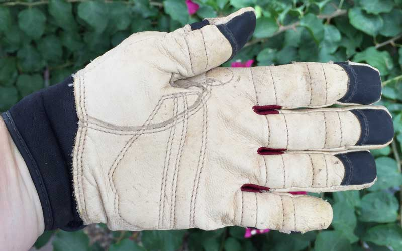 padding on Bionic ReliefGrip garden glove