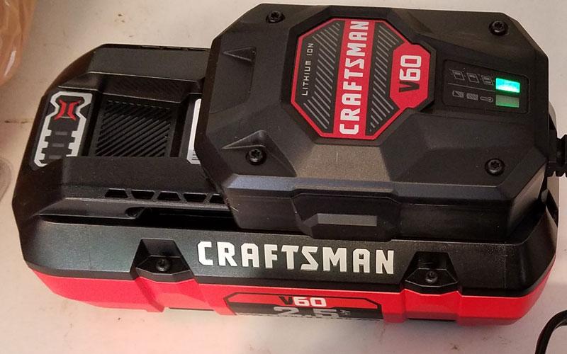 Craftsman 60V String Trimmer battery charger 5