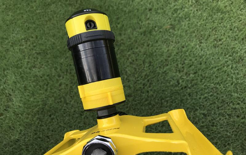 Dramm ColorStorm 4 pattern sprinkler radius tabs