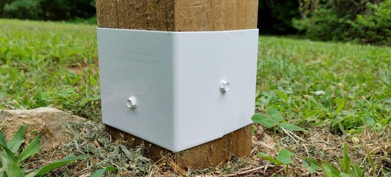 white Fence Armor installed