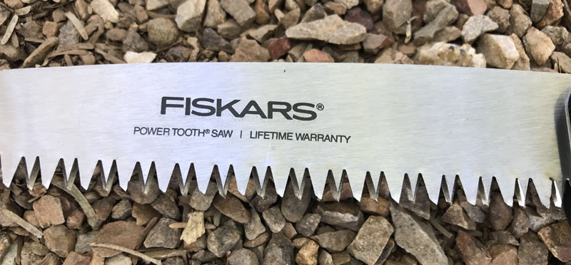 Fiskars power tooth saw teeth