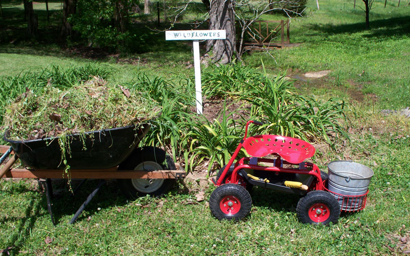 Gardeners Supply tractor scoot mission accomplished