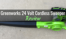 Greenworks 24 Volt, 2-speed Cordless Sweeper: Product Review