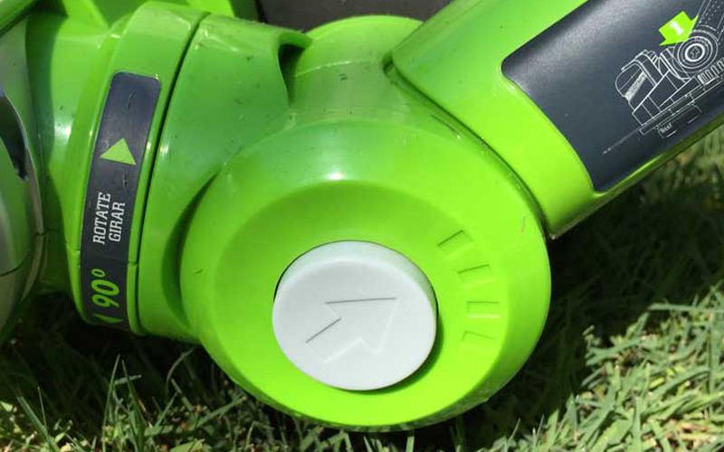 Greenworks 24V Cordless String Trimmer 21342 4 Positionn Button