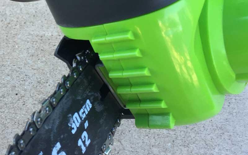 Greenworks Chainsaw plastic bucking teeth