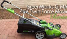 "GreenWorks G-MAX 20"" 40V Cordless Twin Force Mower: Product Review"