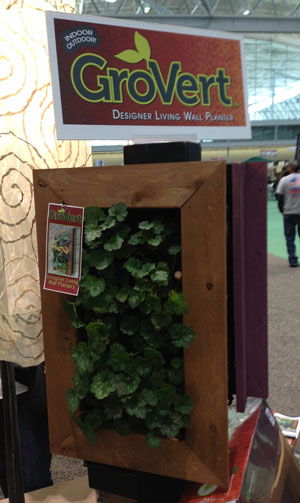GroVert Vertical Wall Planter with frame