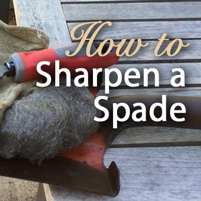 How to sharpen a spade