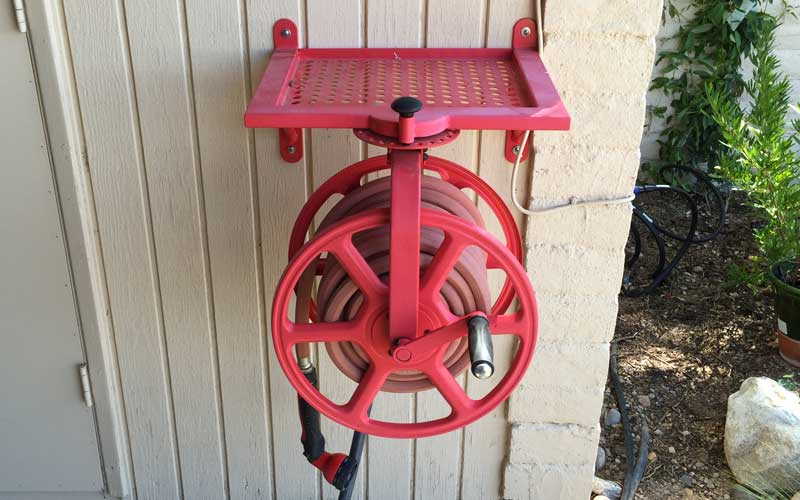 When properly installed, the Revolution hose reel is rock solid