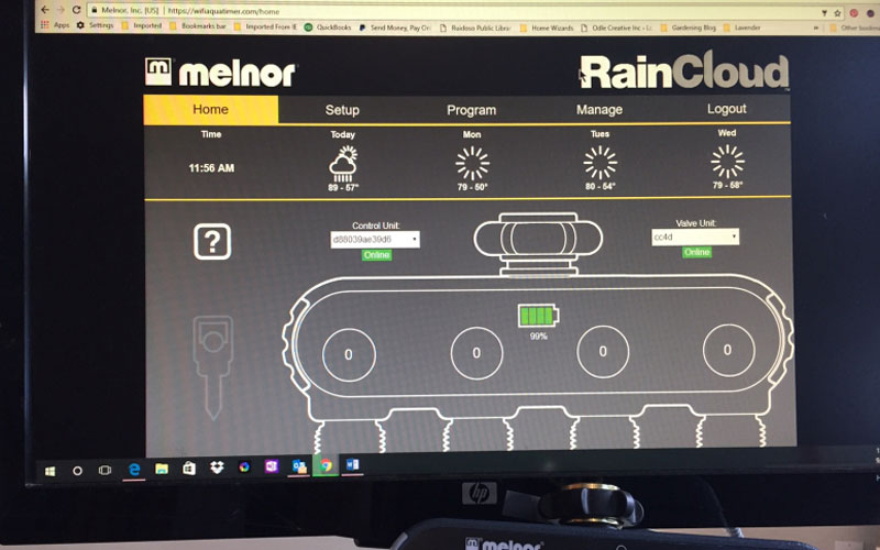 Melnor raincloud cloud based management