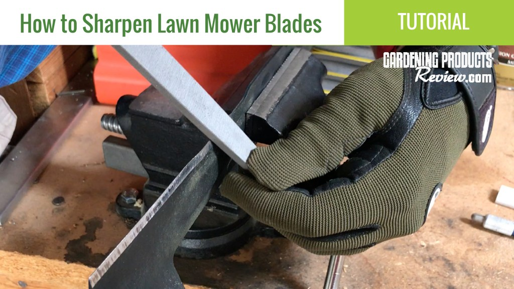 Sharpen lawn mower blades