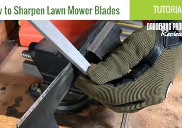 Sharpen lawn mower blades