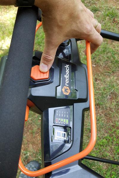 Redback 120v mower how to start