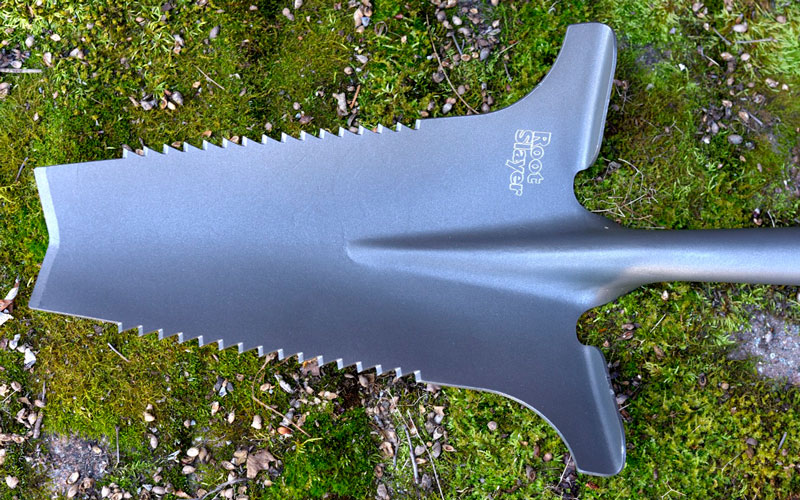 Radius Root Slayer Shovel head design
