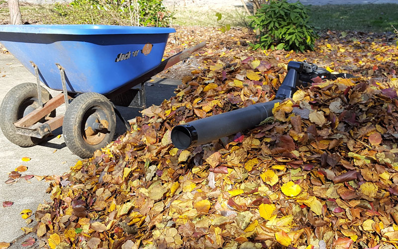 Redback 120V Blower wheelbarrow loads