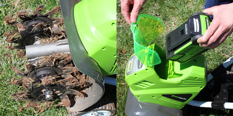 Greenworks Cultivator Removing-Weeds