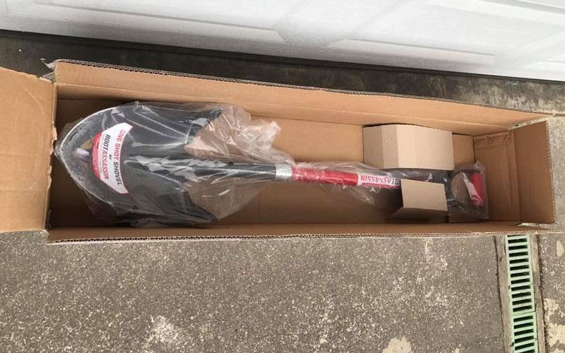 Root Assassin One Shot Shovel packaging