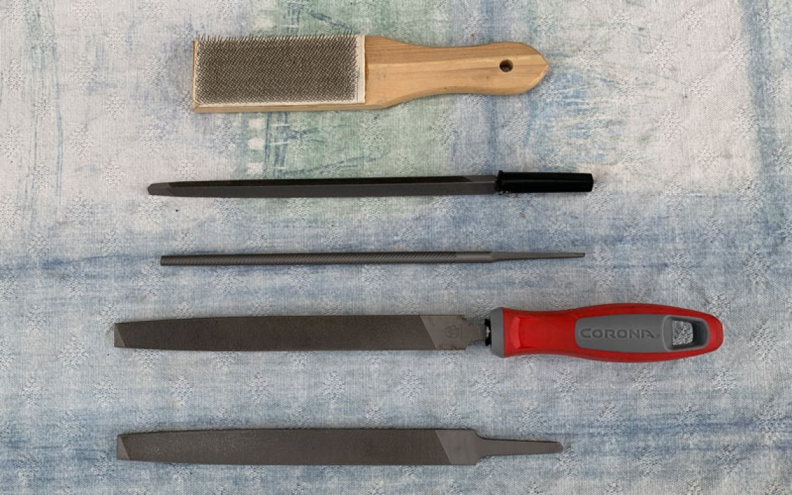 metal files for sharpening gardening tools