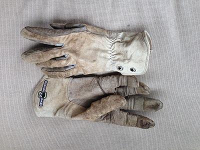 Goat skin leather on StoneBreaker Gloves