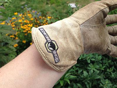 Long cuff on StoneBreaker Gloves