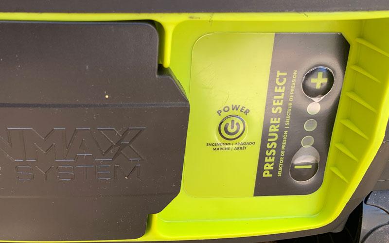 Sun-Joe-Cordless-Pressure-Washer-power-adjustment-panel