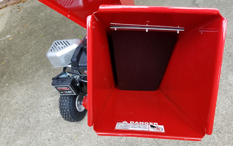 Troy-Bilt Chipper Shredder debris shield