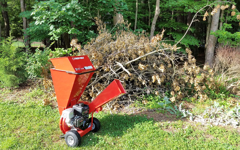 Troy-Bilt Chipper Shredder ready to go